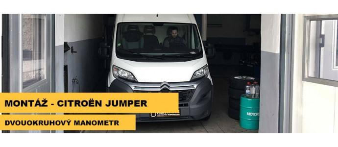 Montáž - Citroen Jumper - dvouokruhový manometr
