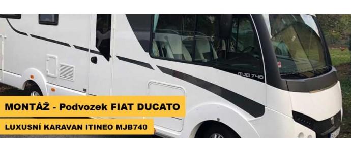 Montáž - Luxusní karavan ITINEO MJB740 2018 na podvozku FIAT DUCATO
